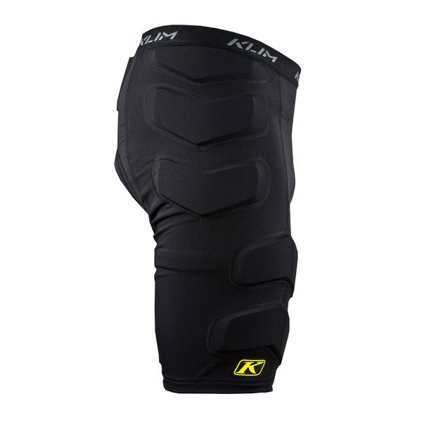 BackDetailsPADDED COMPRESSION SHORT PORON® XRD™ EXTREME IMPACT FOAM ON HIP, THIGHS AND TAILBONE HIHGLY BREATHABLE MOISTURE-WICKING POLYESTER MAIN BODY MATERIAL FOUR-WAY STRETCH SPANDEX DOWN ENTIRE LEG FOR COMPRESSION FIT TO DIFFERENT LEG SIZES AND SHAPES ARTICULATED DESIGN SOFT ELASTIC WAISTBAND SUEDE TEXTURED CHAMOIS CROTCH/GROIN AREA TAGLESS COMFORT DESIGN