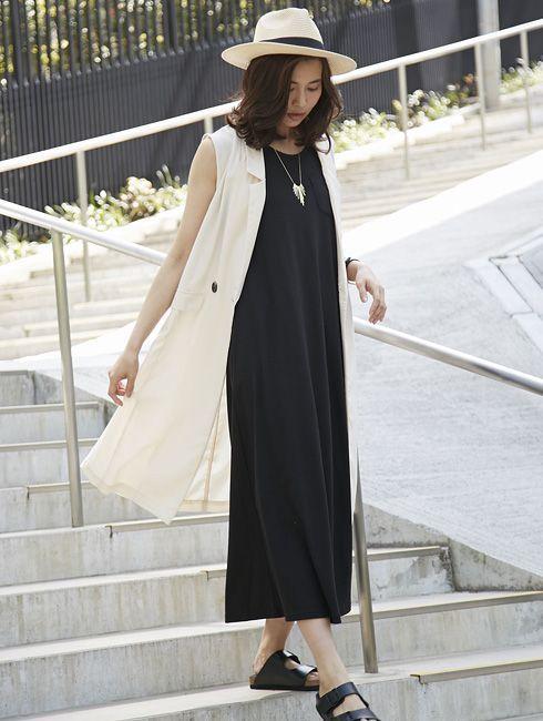 ロングジレ コーデ 春夏2017 | 最新のおしゃれな服装コーデ