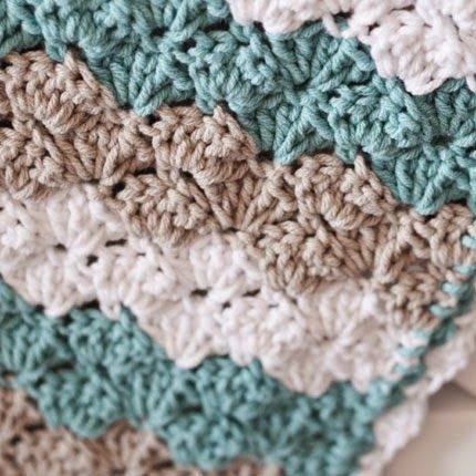 Crochet For Children Shell Stitch Baby Blanket Free Pattern