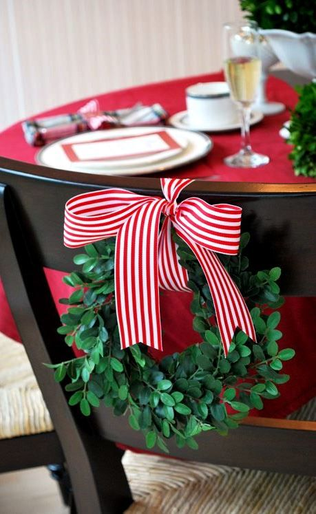 Christmas Chairswag Bayberry Wreath Placesettings Tonik տ ʈ Iʈ