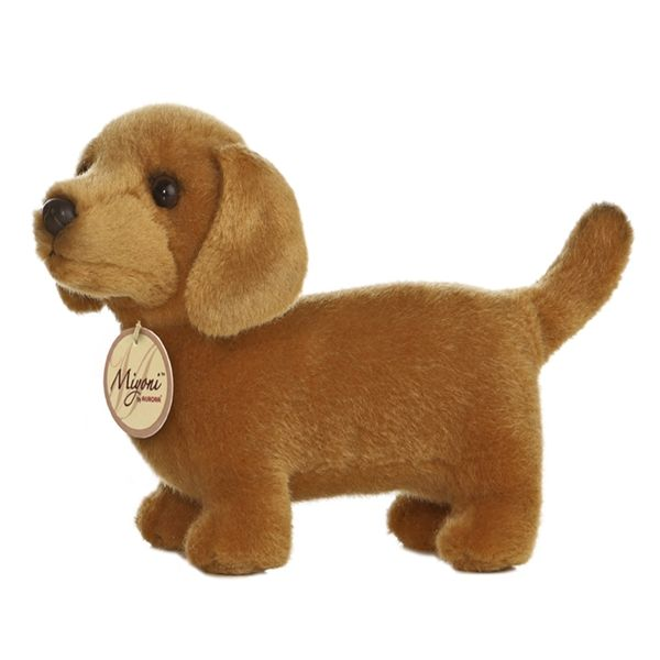 Realistic Stuffed Dachshund 8 Inch Plush Dog By Aurora