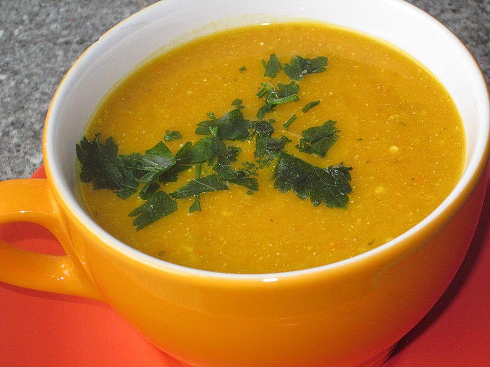 Kürbis - Linsen - Suppe