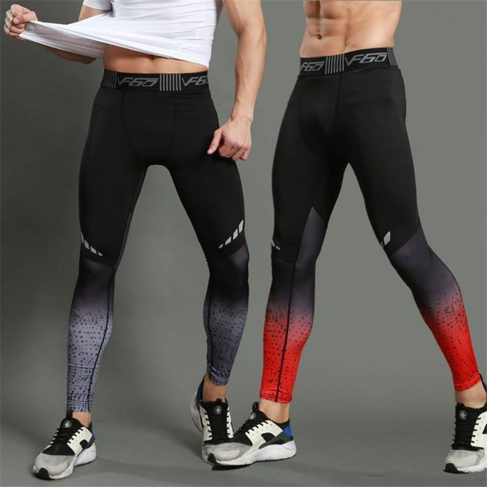 Mens Compression Long Pants Base Layer Fitness Sports Slim Leggings Gym Trousers