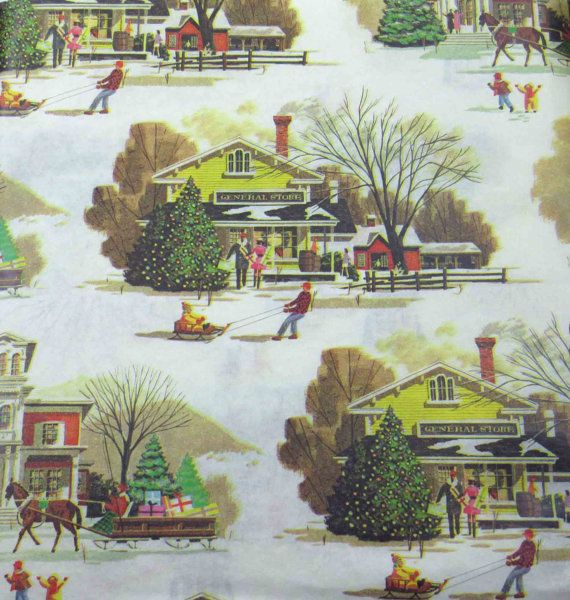 vintage christmas wrapping paper or gift wrap with. Black Bedroom Furniture Sets. Home Design Ideas