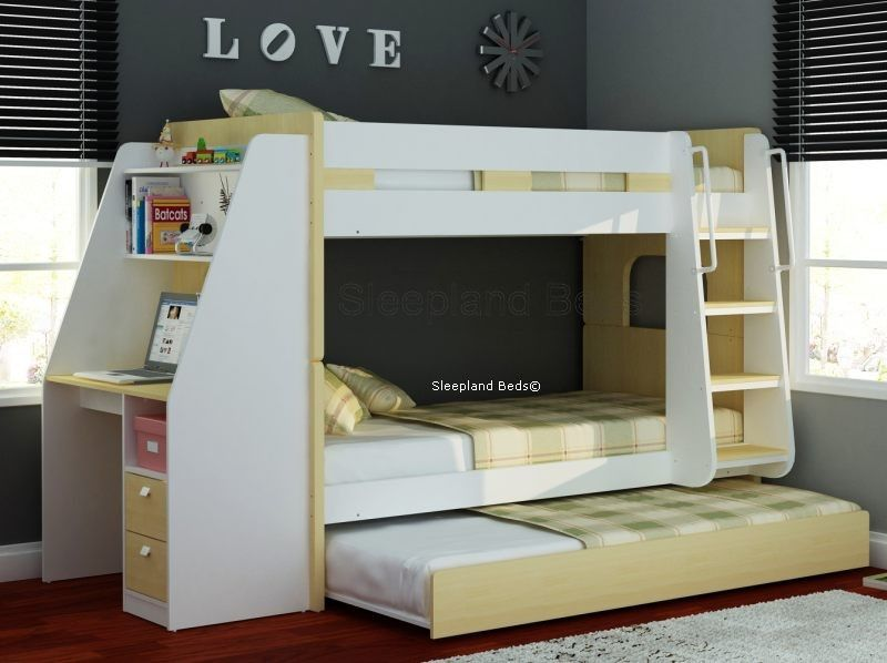 Olympic Bunk Bed With Desk And Trundle