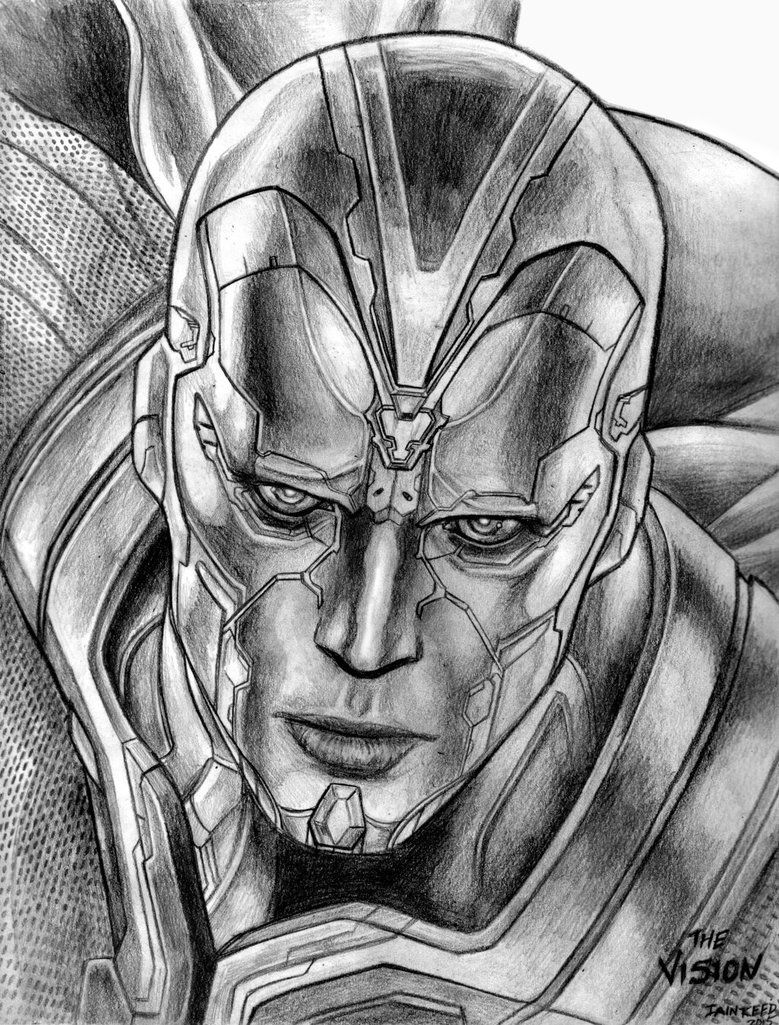 The Vision Avengers Age Of Ultron By Soulstryder210 On Deviantart Avengers Art Avengers Drawings Marvel Drawings