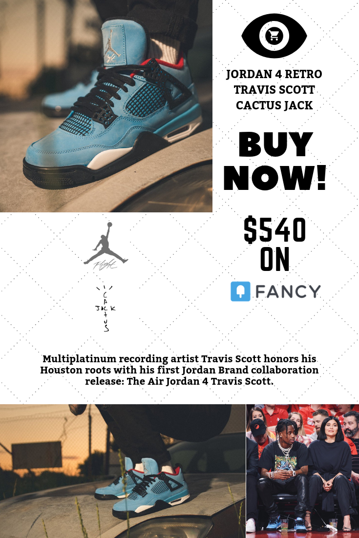 reputable site 83e71 72733 Jordan 4 Retro Travis Scott Cactus Jack | Nike Shoes|Jordans ...
