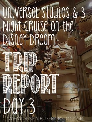 Read All About Day  Of My Trip Report As We Board The Disney