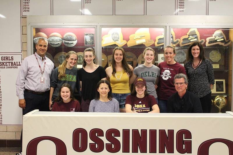 OHS swimmer Anna Desiderio signing her National Letter of