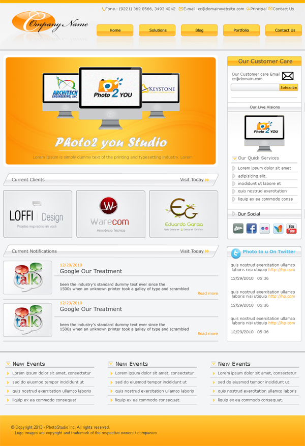 Photostudio Free #PSD #Website Template Preview | ui | Pinterest ...