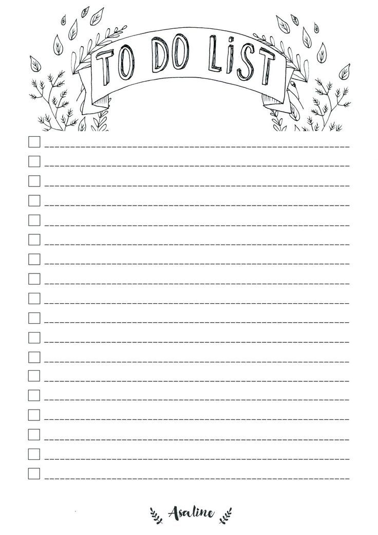 Free To Do List Printable To Do Liste Vorlage