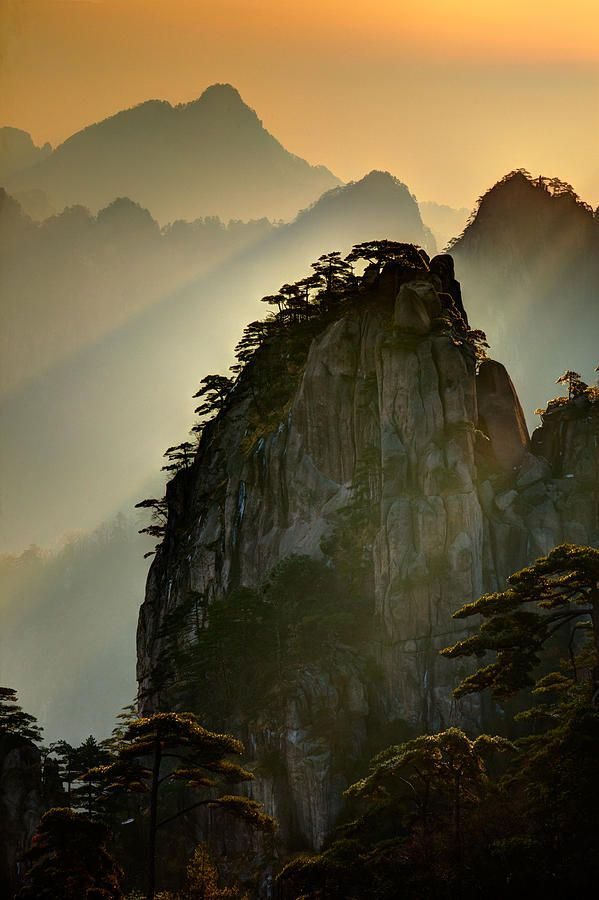 Sunset Huangshan Mountain By Eggers Photography Chinese Landscape Huangshan Mountains Beautiful Landscape Photography