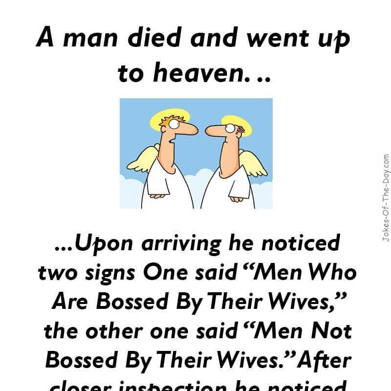 A man died and went to Heaven | Humorous inspirations | Pinterest | Funny jokes, Joke stories ...