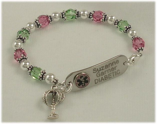 Pretty Medical Alert Bracelets And Link To Get The Tag Itself Made