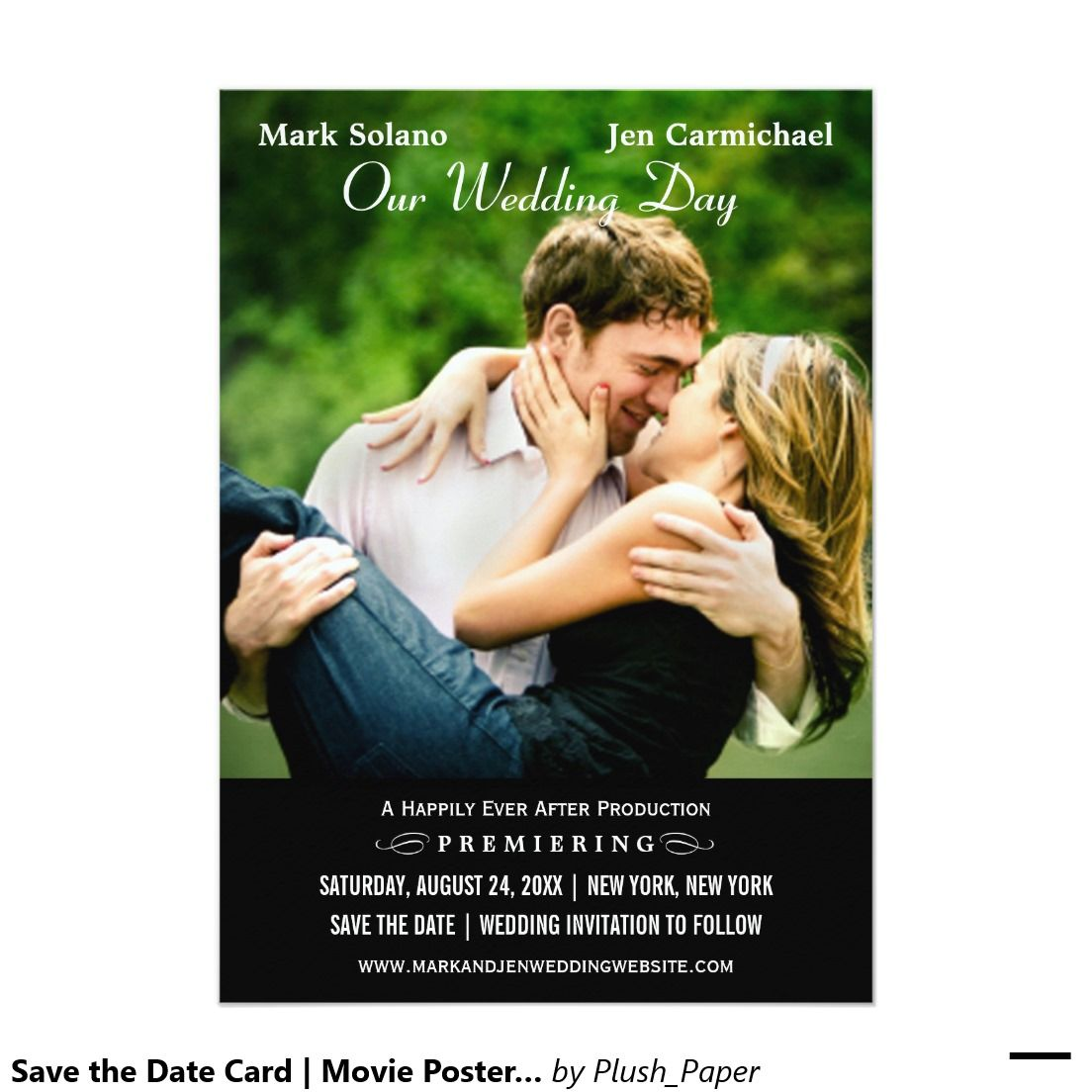 Zazzle poster design - Save The Date Card Movie Poster Design