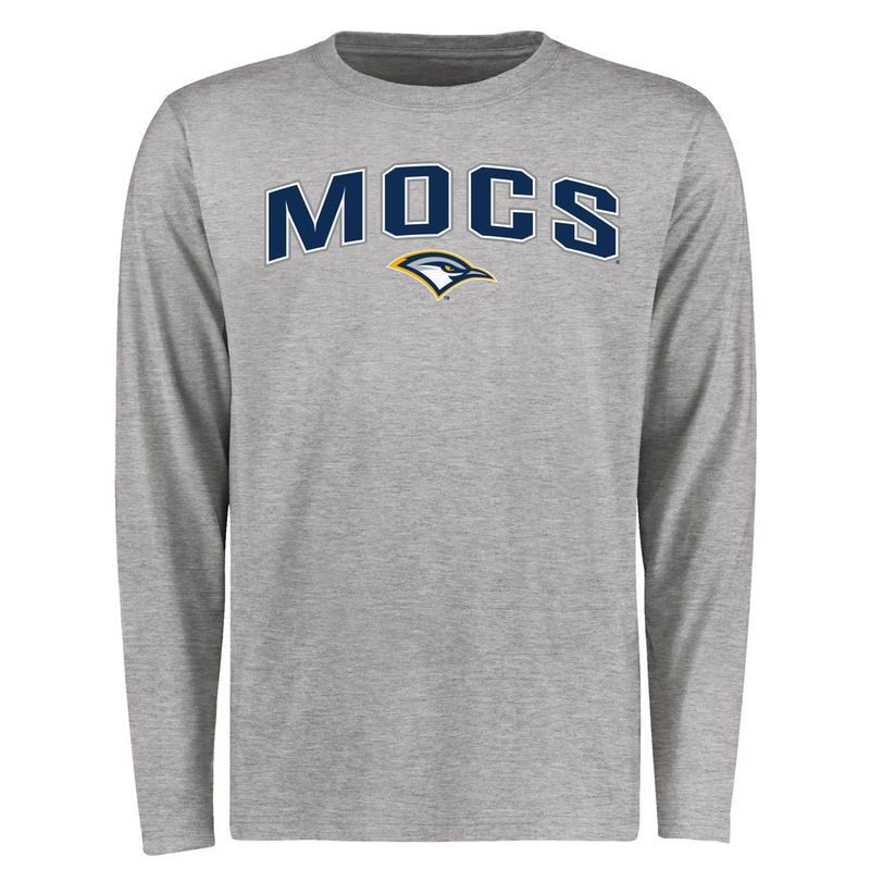 Tennessee Chattanooga Mocs Proud Mascot Long Sleeve T Shirt Ash