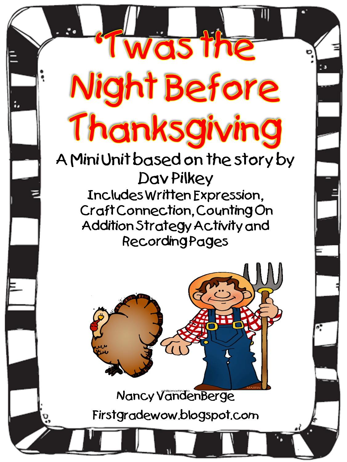 Twas The Night Before Thanksgiving A Mini Unit Based On