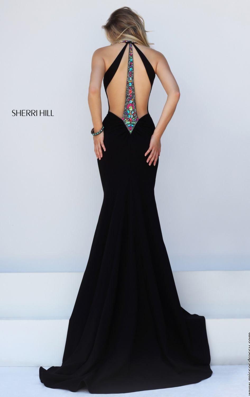 Escote y negro vestidos de graduación pinterest prom gowns