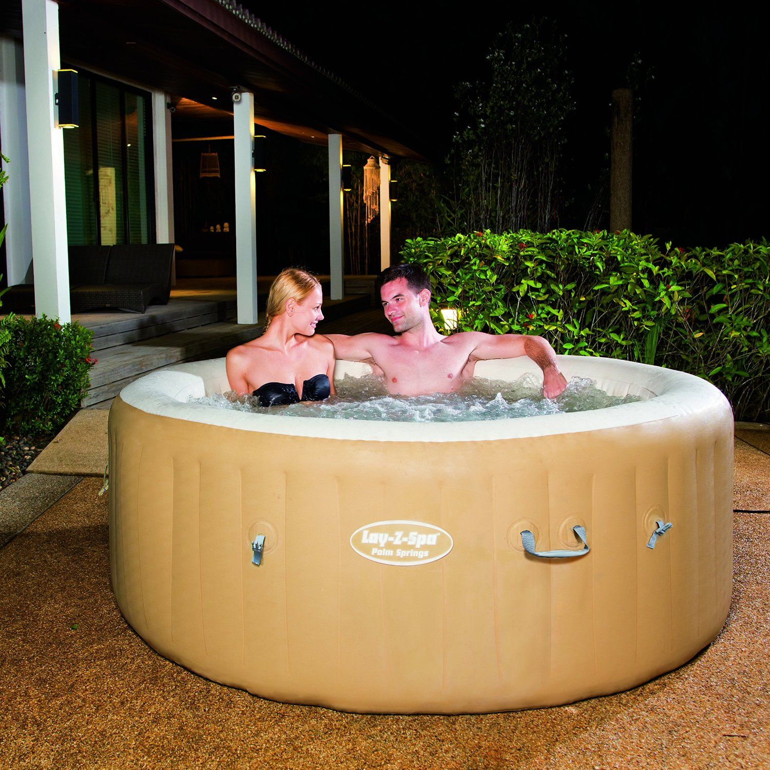Lay Z Spa Palm Springs Inflatable Hot Tub