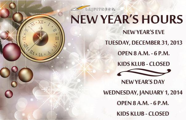 LA Fitness New Year's Hours | LA Fitness | Pinterest | La fitness ...