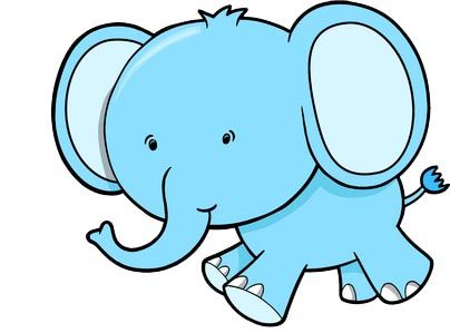 Cute Cartoon Elephants | here is a baby asian elephant i think it ...