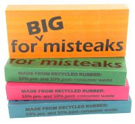 Big, 100% recycled rubber erasers! Eco Eraser for Big Misteaks (4 Colors), by Made By Humans #recycled #office #desk