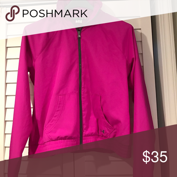 Under Armour jacket Pink Under Armour mesh running jacket-fits like medium Under Armour Jackets & Coats