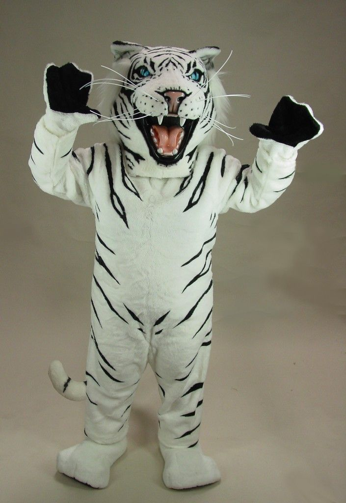 White Tiger Mascot Costume ($982) & White Albino Tiger Mascot Costume | Pinterest | Mascot costumes and ...