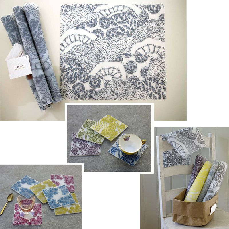 Modern Twist Placemats And Coasters Placemats Craft Inspiration Coasters