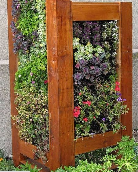 Vertical Garden To Conceal AC Unit