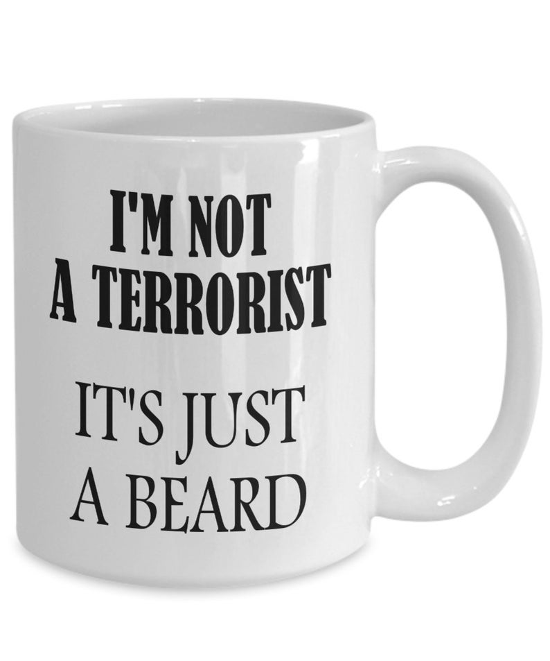 Beard Mug Funny Gifts Large Ceramic Tea Coffee Cups for