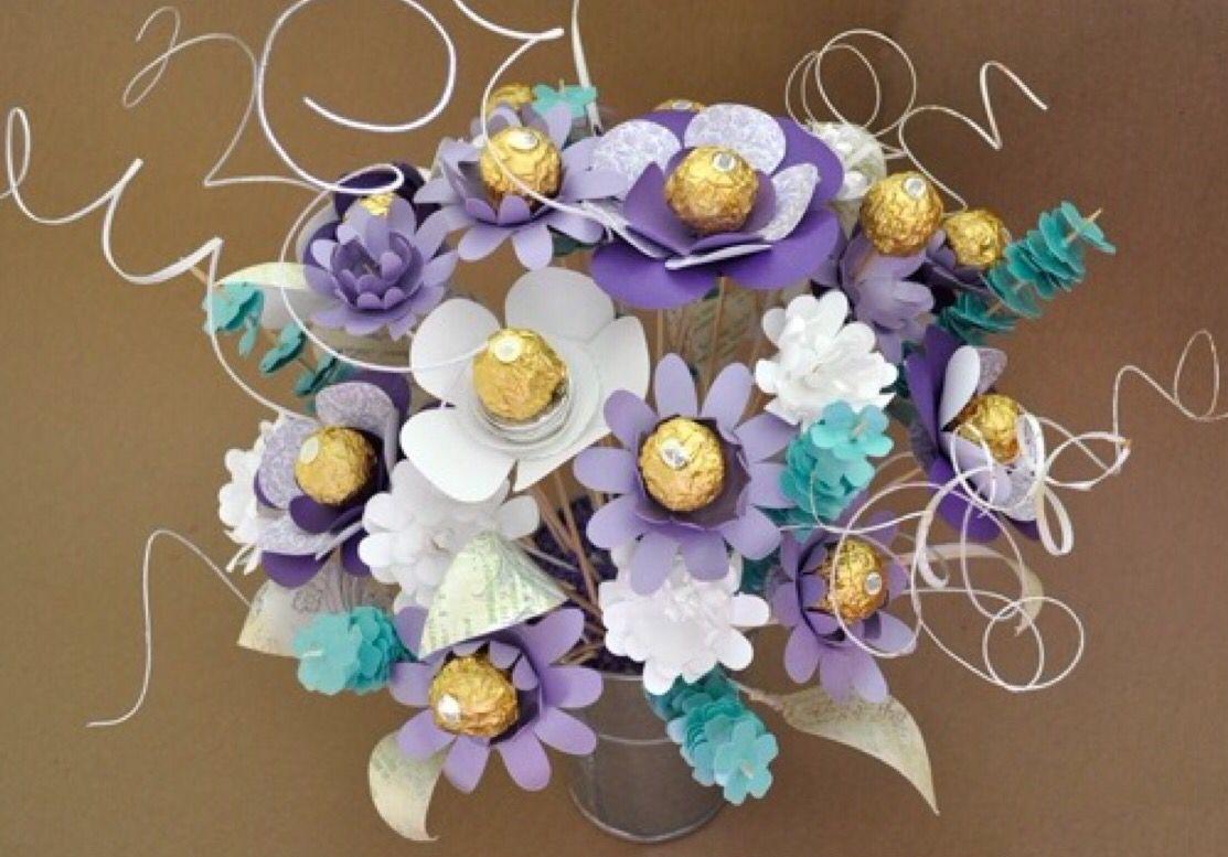 Rocher Ferrero Flower Bouquet | Valentine\'s Day | Pinterest | Flower ...