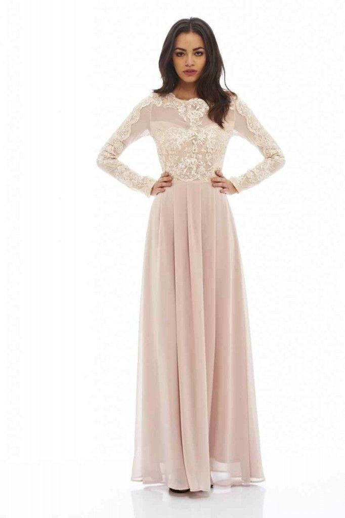 Maxi dress petite with sleeves