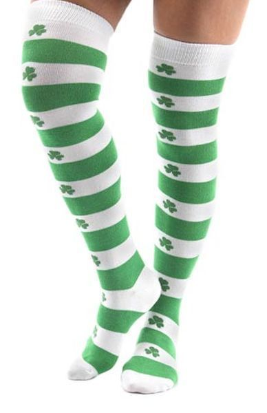 Spirited Adult Ladies Striped Knee High Stockings Socks Hosiery Sexy Cosplay Fancy Dress Women