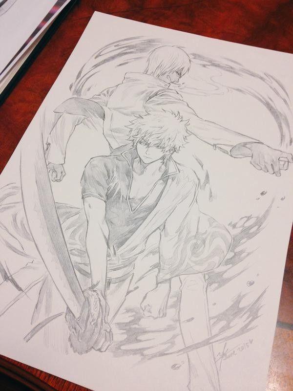 dessin crayon gintama par yooani