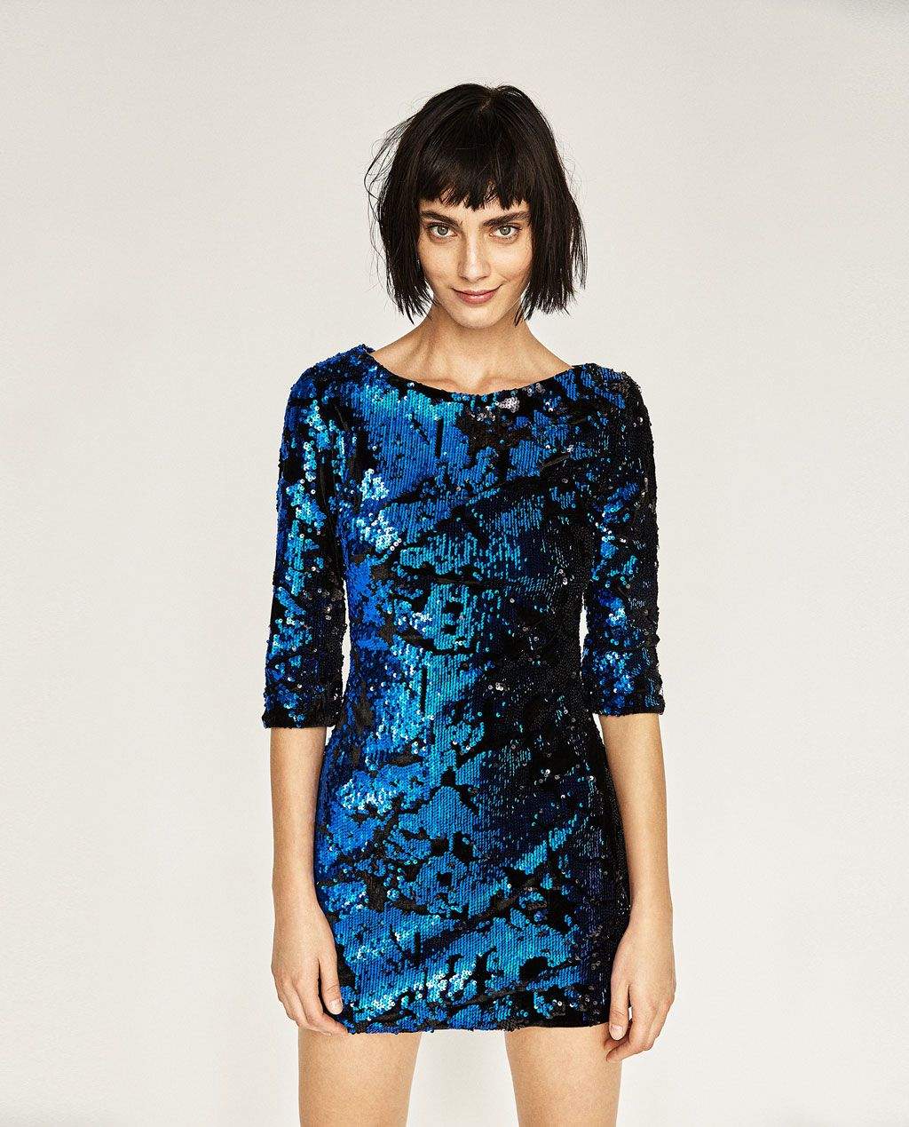 d240b93dbe SHORT SEQUIN DRESS-DRESSES-WOMAN