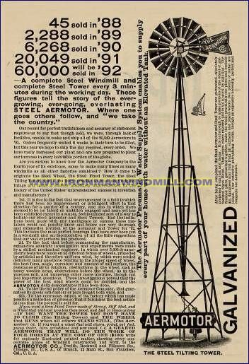 Aermotor Began Building An Improved Form Of The Original All Metal Windmill Developed By The U S