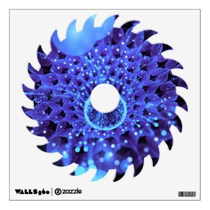 The Heart of Winter a Purple-Blue Fractal Dahlia Wall Decal - walldecals home decor  sc 1 st  Pinterest & The Heart of Winter a Purple-Blue Fractal Dahlia Wall Decal | Wall ...