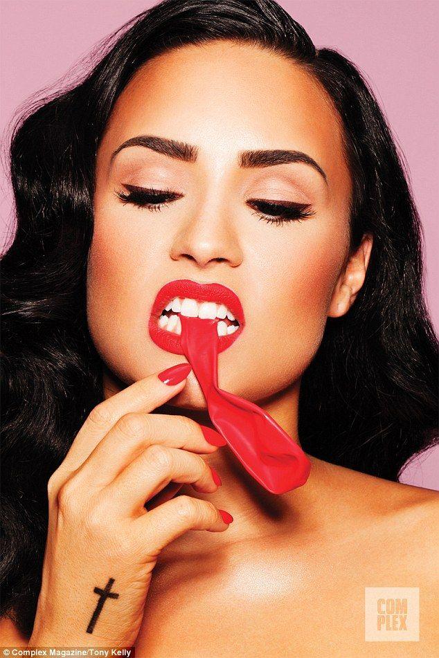 Hubba Hubba Demi Lovato Goes Topless For Complex Magazine Bubbles