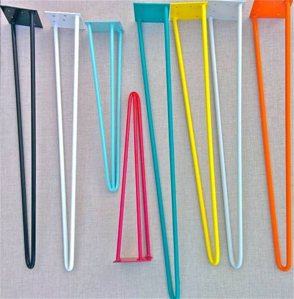 Hairpin legs 8 powdercoated colours various sizes 2 or 3 rod hairpin legs 8 powdercoated colours various sizes 2 or 3 rod other watchthetrailerfo