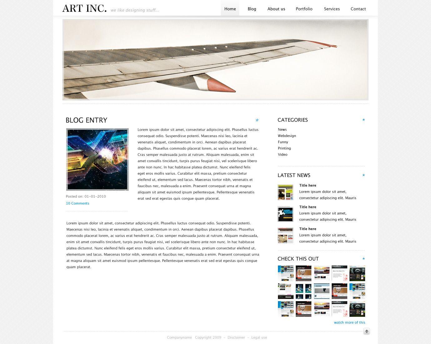 ART INC. ART Art, Creative websites, Blog entry