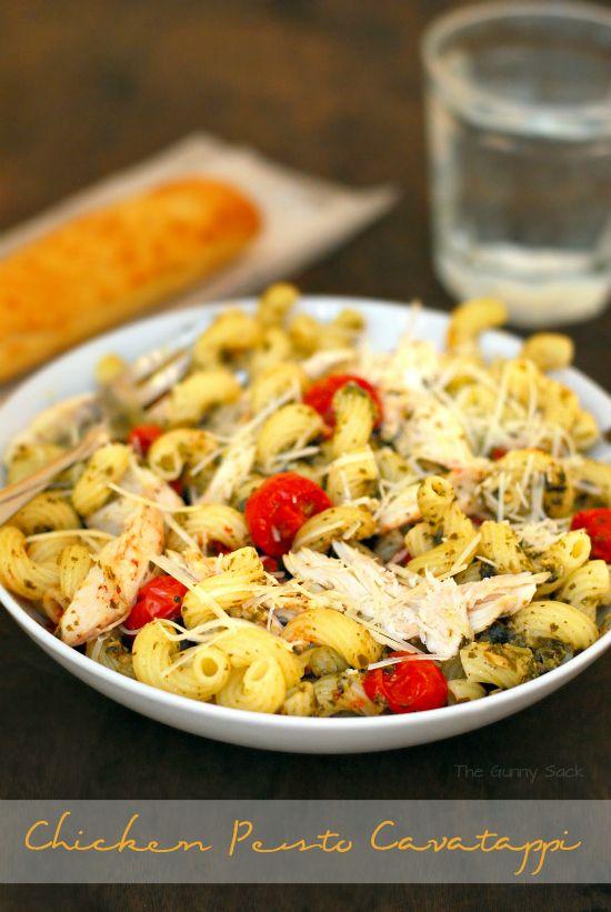 Chicken Pesto Cavatappi Recipe #dinner #ad #chicken