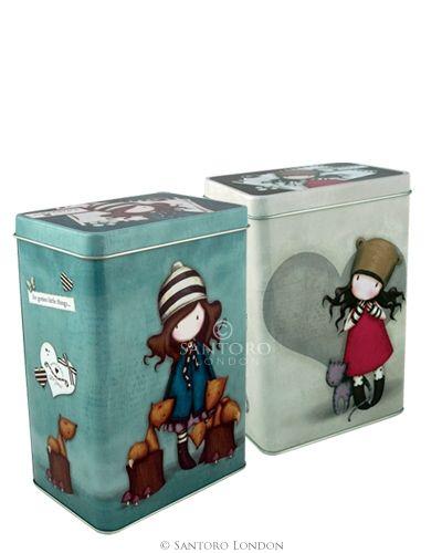 Gorjuss Set Of 2 Storage Tins