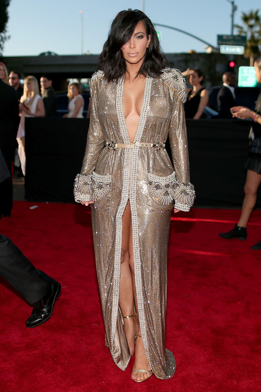Celebrities Wearing Cutout Dresses On Red Carpet — See ...  |Kim Kardashian Red Carpet Dresses
