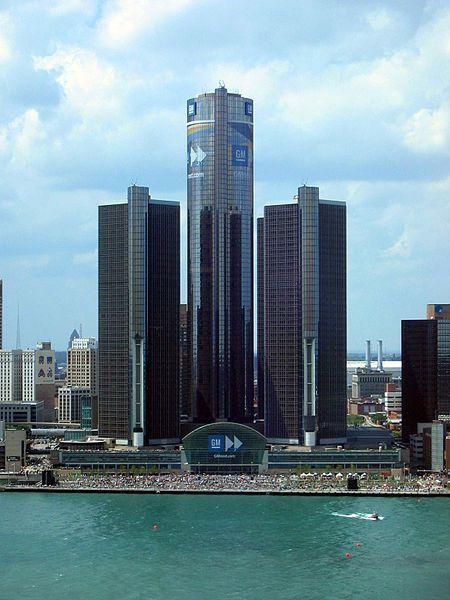 The Detroit International Riverfront Behind Is The Renaissance