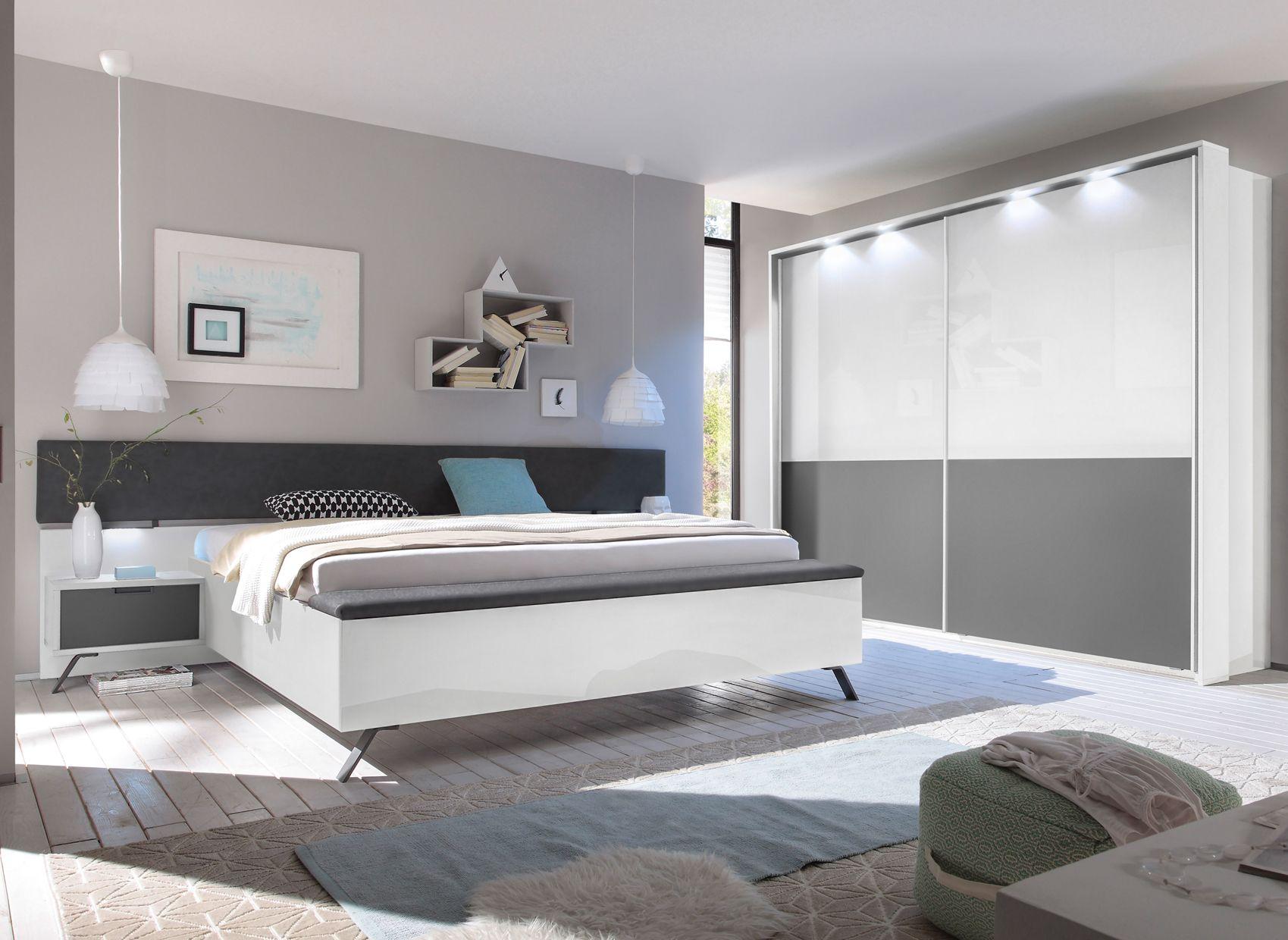 Die Moderne Schlafzimmer Serie Match In Hochglanz Weiss Und