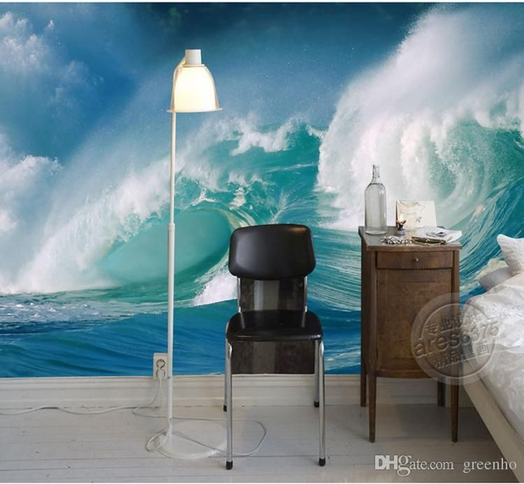 Custom sea wave wallpaper seascape photo wallpaper 3d modern wall mural painting art home decor children