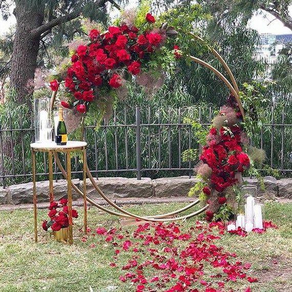 Double Сircle Wedding arch Wedding Round arch Cere