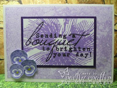 Rocky's Crafting Blog: MHK Designs Challenge #8 using Pansy Corner image and Country Farm papers.
