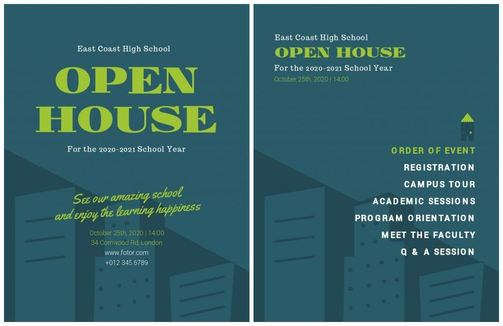 open house event program go on over to fotor com and go to